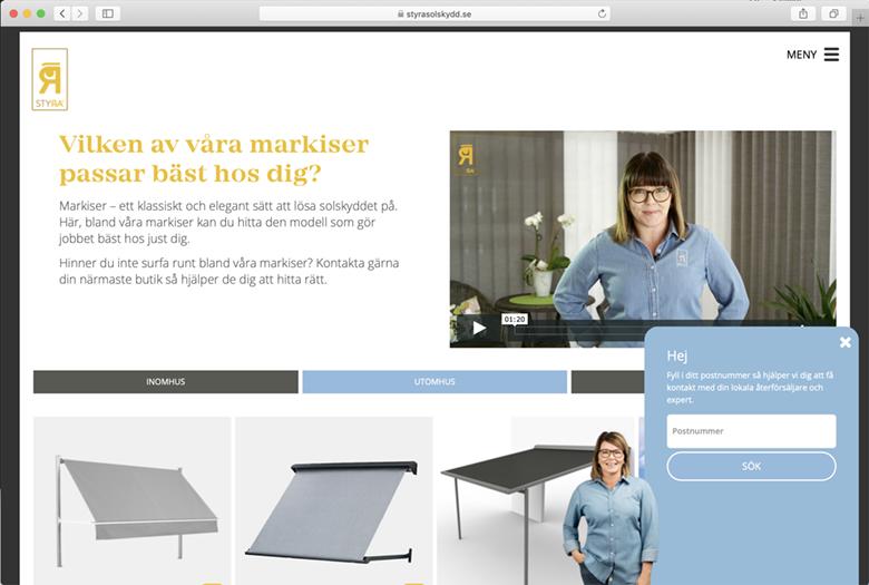 Digital marknadsföring StyRa solskydd webbyrå Örebro